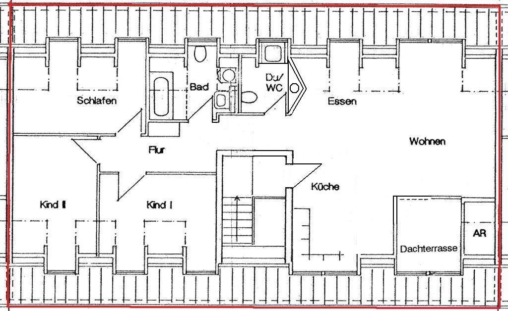 vermietet individuelle 4 raum dachgeschosswohnung mit loggia antaris immobilien. Black Bedroom Furniture Sets. Home Design Ideas